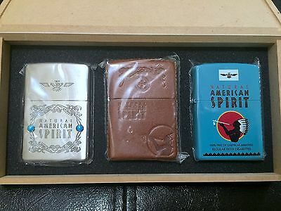 RARE Limited Natural American Spirit Zippo Lighter Promo Set - BRAND NEW