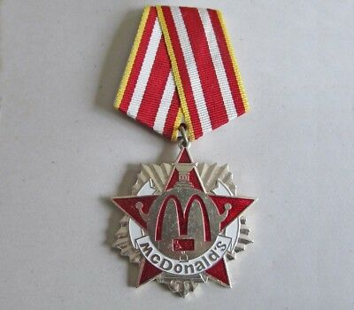 McDonalds Moscow Grand Opening Officials Medal 1990 Pin Back