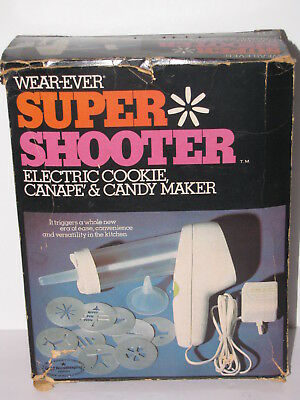 Vintage Wearever Super Shooter Cookie Press Electric Candy Canape Maker