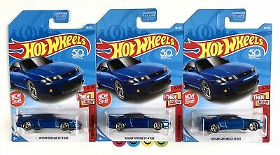 Nissan Skyline GT-R R33 Hot Wheels 50th Anniversary New for 2018 Jdm Lot of 3