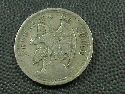 CHILE    20  Centavos   1921   $ 2.99  maximum  shipping  in  USA