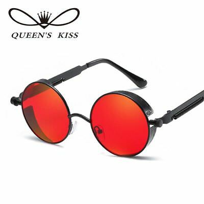 QUEENS KISS Gothic Steampunk Women Men Sunglasses Coating Mirrored Sunglasses...