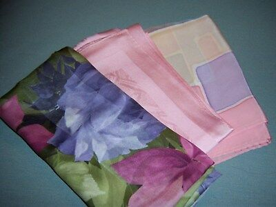 Silk Scarves – lot of 3 in Pinks