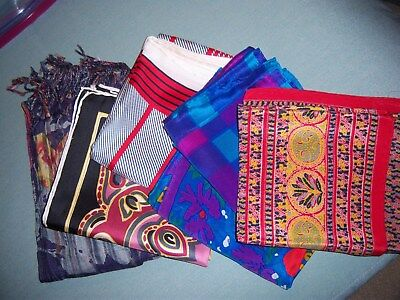 Silk Scarves – lot of 6 in various colors