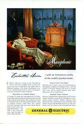 1946 Vintage Early Original Magazine Advertising Ad Print General Electric