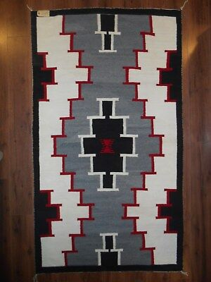 Beautiful NAVAJO NAVAHO Indian Rug/Weaving..Stepped Design in Traditional Colors