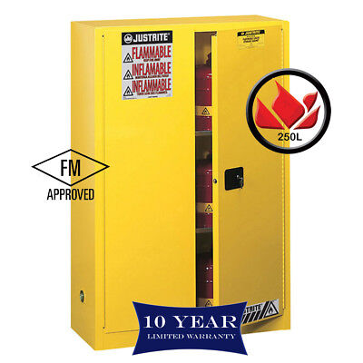 250L Dangerous Goods Storage Flammable Liquid Safety Cabinet 10Yr Wty FireResis
