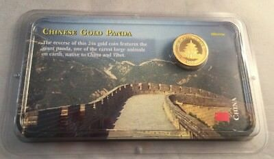 2000 Chinese Gold Panda 99.9% 3.1103 Grams - 10 Yuan - Littleton - BU