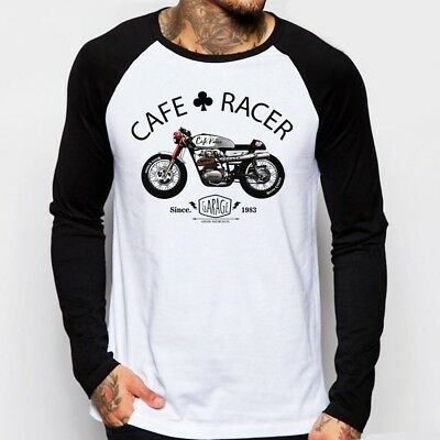Cafe Racer classic Motorcycle triumph norton enfield long sleeve t-shirt FN9167