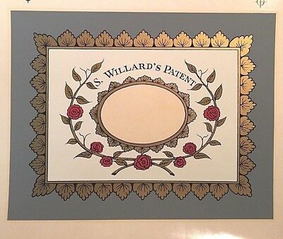 Banjo Clock Glass Decal/Transfer for Antique 19th c. mantel clock-New Old Stock