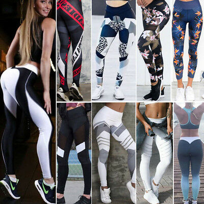 Women Yoga Fitness Leggings Running Gym Stretch Sports High Waist Trousers Lot