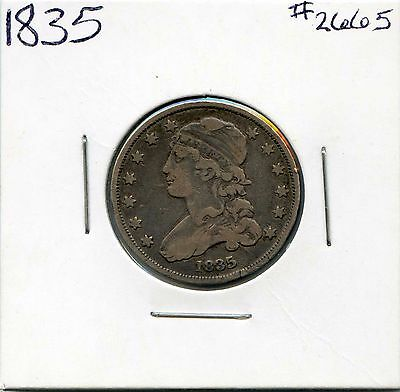 1835 25C Capped Bust Silver Quarter. Circulated. Lot #2439