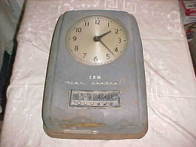 Vintage IBM Type 91-5 Industrial Time Control Wall Time Clock