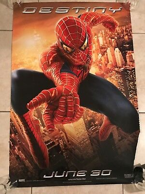 SPIDER-MAN 2 original advance DESTINY 27x40 Double Sided movie poster