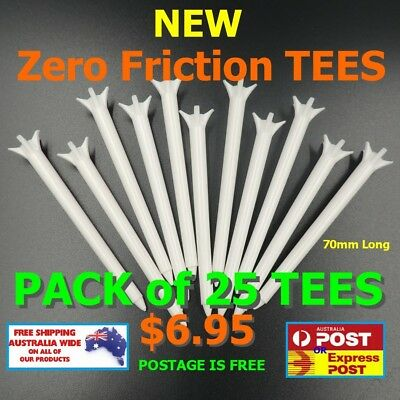 """GOLF TEE """"ZERO FRICTION"""" Pro Golf Tees  25 Pack for $6.95 FREE POSTAGE """""""