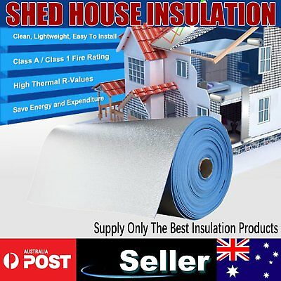 Blue XPE Foil Insulation Heat Barrier Shed Loft Steel Frame Roof Ceilling Wall