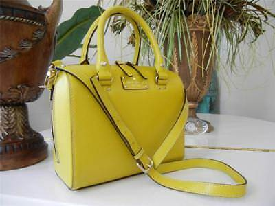 Kate Spade Wellesley Alessa Sultan Yellow Leather Crossbody Satchel Purse $398