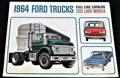 1964 Ford Trucks Full Line Advertising Sales Catalog Sales Brochure Vintage