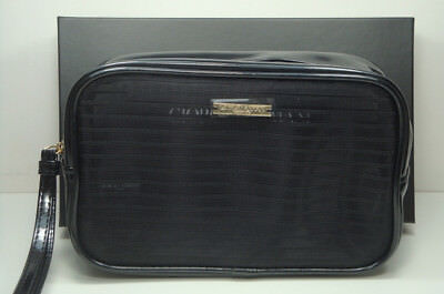 ad6caae7053d Giorgio Armani Parfums Black Large Beauty Pouch   Cosmetic Makeup Bag NIB