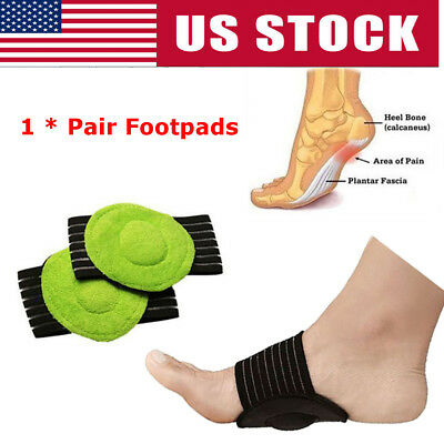 US High Heel Foot Pad Cushion Arch Pain Relief Insole Pad Foot Support 1 Pair
