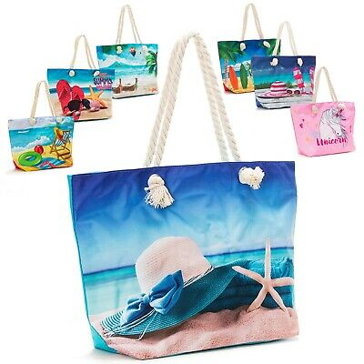 Women's Canvas Tote Shoulder Handbag Travel Shopping Beach Pool Bag New