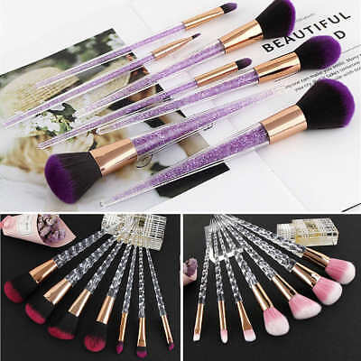 7pcs Crystal Makeup Brushes Set Cosmetic Eyeshadow Powder Foundation Brush