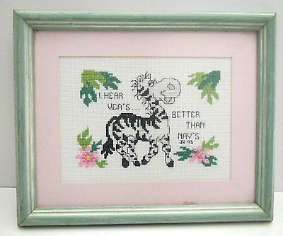 YEA's are Better Than NAY's Framed Counted Cross Stitch Picture