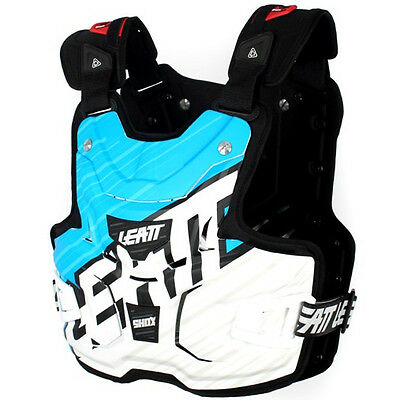 NEW LEATT Adult Body Armour Chest Protector LITE SHOX BLUE MX SX Motocross Moto