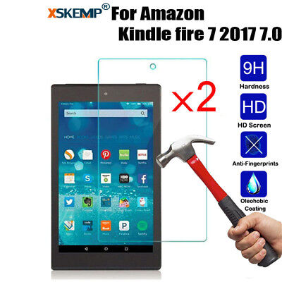 2X Premium Tempered Glass Screen Protector For Amazon Kindle fire HD10/8/7 2017