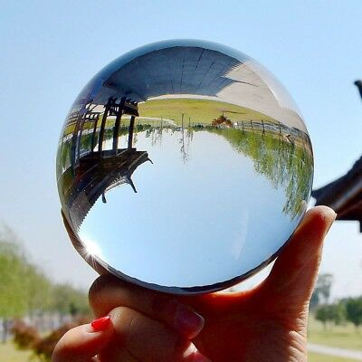 Clear Glass Crystal Ball Healing Sphere Photography Props Gifts Home Decoration