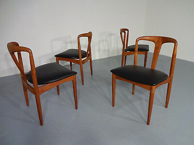 Juliane Teak Dining Chairs Johannes Andersen for Uldum Møbelfabrik, 1960's