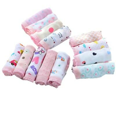 12pcs Baby Girls Underpants Floral Soft Cotton Underwear Short Briefs Knickers