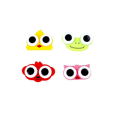 Lentilles de contact Cartoon Box & case Owl grenouille animal forme contact étui