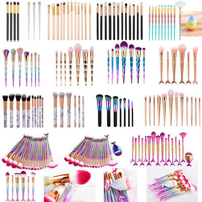 3D Unicorn Mermaid Diamond Foundation Powder Concealers EyeShadow Makeup Brushes