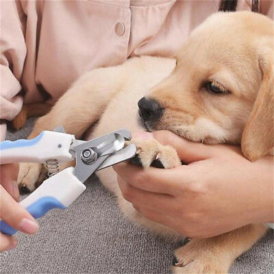 Pet Dog Cat Nail Trimmer Clippers With Safety Guard to Avoid Over-cutting Nails