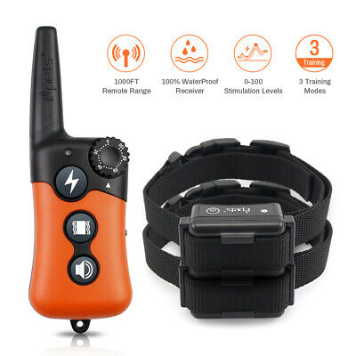 Ipets Dog Training Shock Collar Rechargeable Remote Control E Collar for 2 dogs