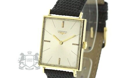 LONGINES Vintage Men's Watch solid 18K Yellow Gold Cal. 847.4 Working (3144)