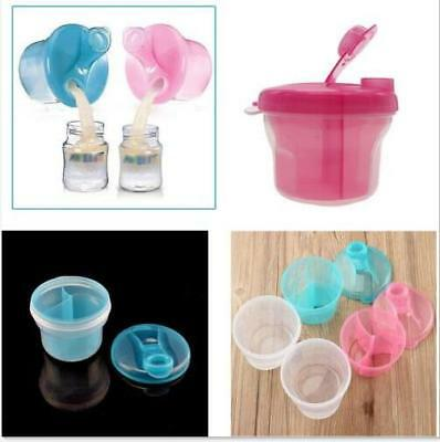 Travel Feeding Baby Kids Milk Powder Formula Dispenser Container Box Interlayer
