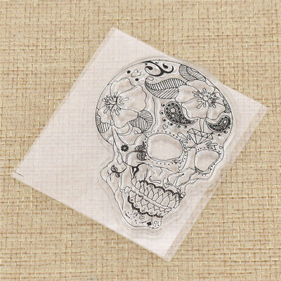 Head Bones Clear Stamp DIY Handmade Transparent Seal Crafts Hot New Silicone
