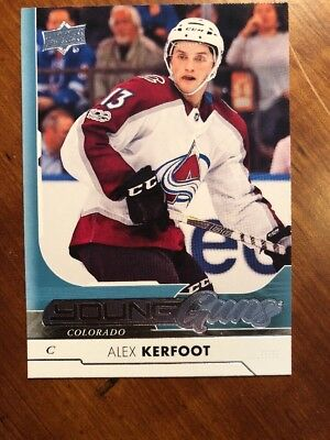 2017-18 UD Hockey Series 1 Young Guns #209 Alex Kerfoot