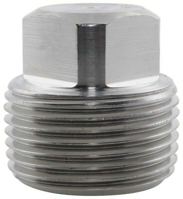 """Stainless Steel 316 Square Head Plug BSP 1/8"""" To 4"""" - Rated 150LB"""