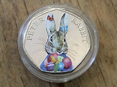 Easter Bunny Peter Rabbit Beatrix Potter 50p Coin Collectable 2016