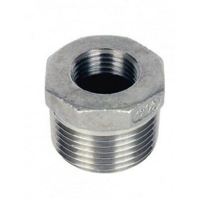 "Stainless Steel 316 Reducing Bush 1/8"" To 4"" - Rated 150LB - Next Day Delivery"