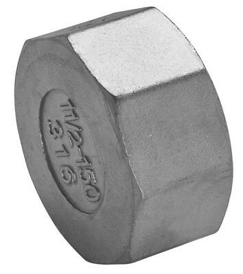 "Stainless Steel 316 Hexagon Cap BSP 1/8"" To 4"" - Rated 150LB - Next Day Delivery"
