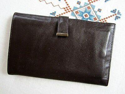 Vintage mid-century Men's leather passport plus holder