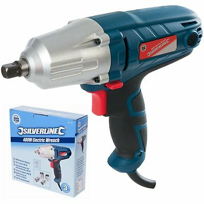 "Silverstorm 400W Electric Impact Drill Wrench 1/2"" Dr Power Tool with Sockets"