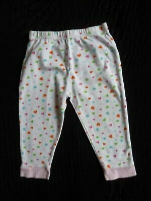 Baby clothes GIRL 18-24m pyjamas soft trousers only white/multi hearts SEE SHOP