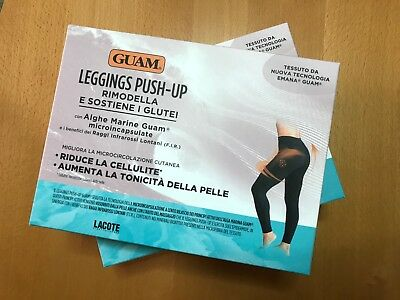 GUAM LEGGINGS PUSH UP con algas Marine - Color negro - elegir la su Tamaño