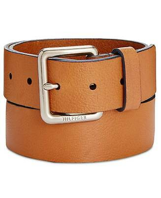 0f25f01cbc2d6  135 TOMMY HILFIGER Mens BROWN LEATHER STRAP 38MM DRESS CASUAL BUCKLE BELT  34