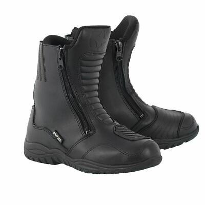 Oxford Warrior Boots Waterproof Short Leather Motorcycle Motorbike Boots